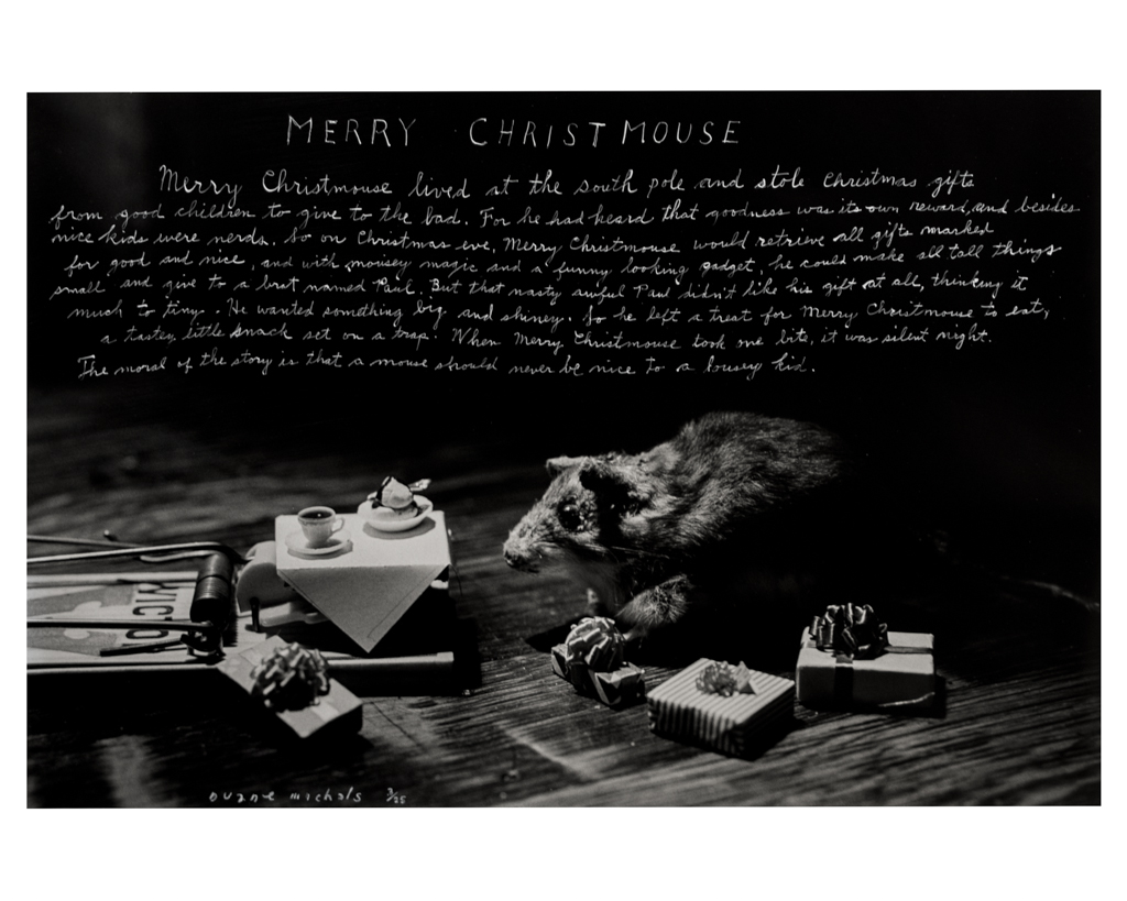 DUANE MICHALS,  Merry Christmouse , 1993