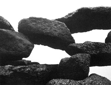 AARON SISKIND, Martha's Vineyard Rocks III , 1954