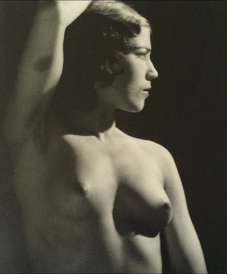 MAN RAY,  Nude Torso  (arm raised), C. 1937
