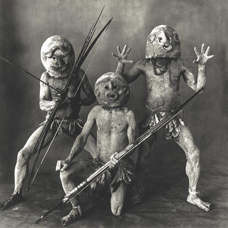 IRVING PENN, Three Asaro Mudmen , New Guinea, 1970