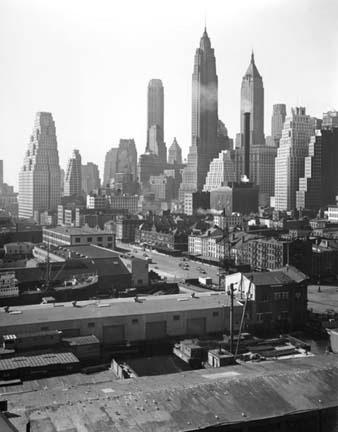 TODD WEBB,  Madison NY,   Lower Manhattan from Brooklyn Bridge,  1946