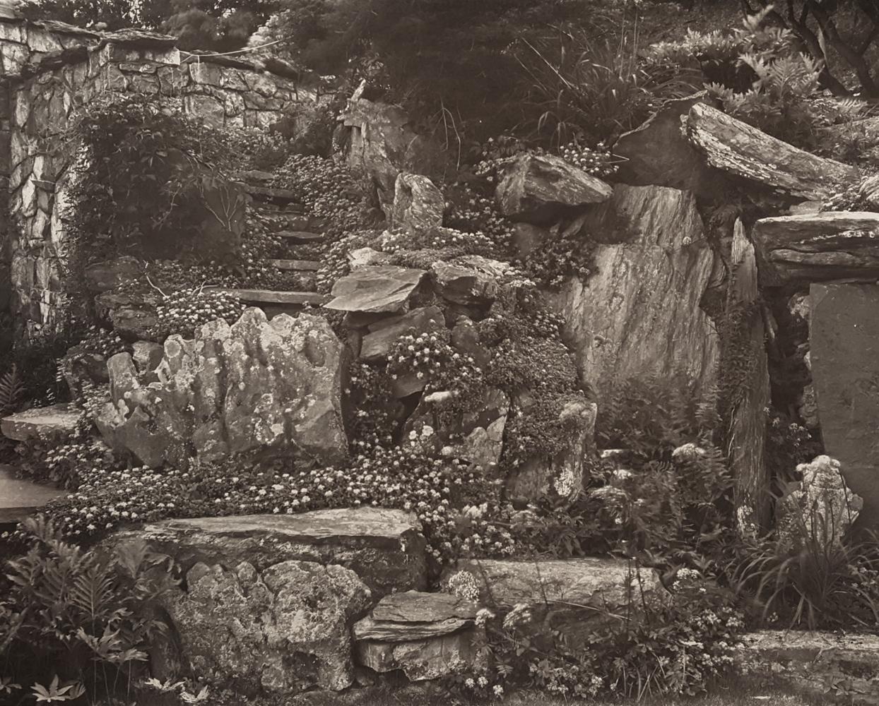 JOHN YANG,  Rock Garden and stairs , Innisfree Garden, Millbrook, New York, 1982