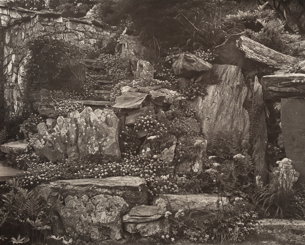 JOHN YANG,  Rock Garden and Stairs ,  Innisfree Garden, Millbrook, New York,  1982