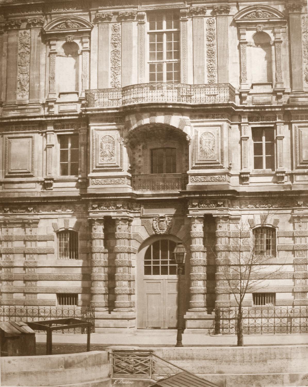 EDWARD BALDUS,  Façade, Bibliothèque Impériale du Louvre , c. 1854