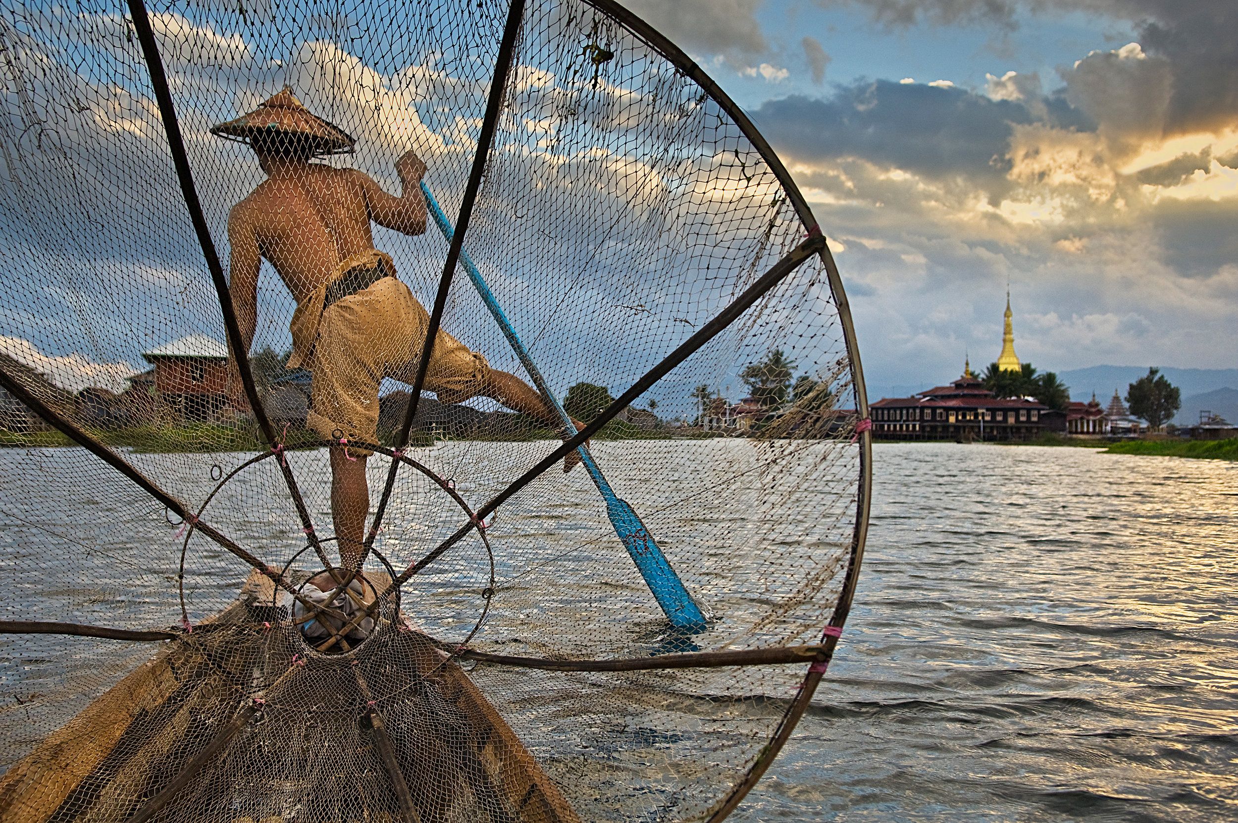 STEVE MCCURRY,  Fisherman on Inle Lake, Myanmar/Burma,  2008