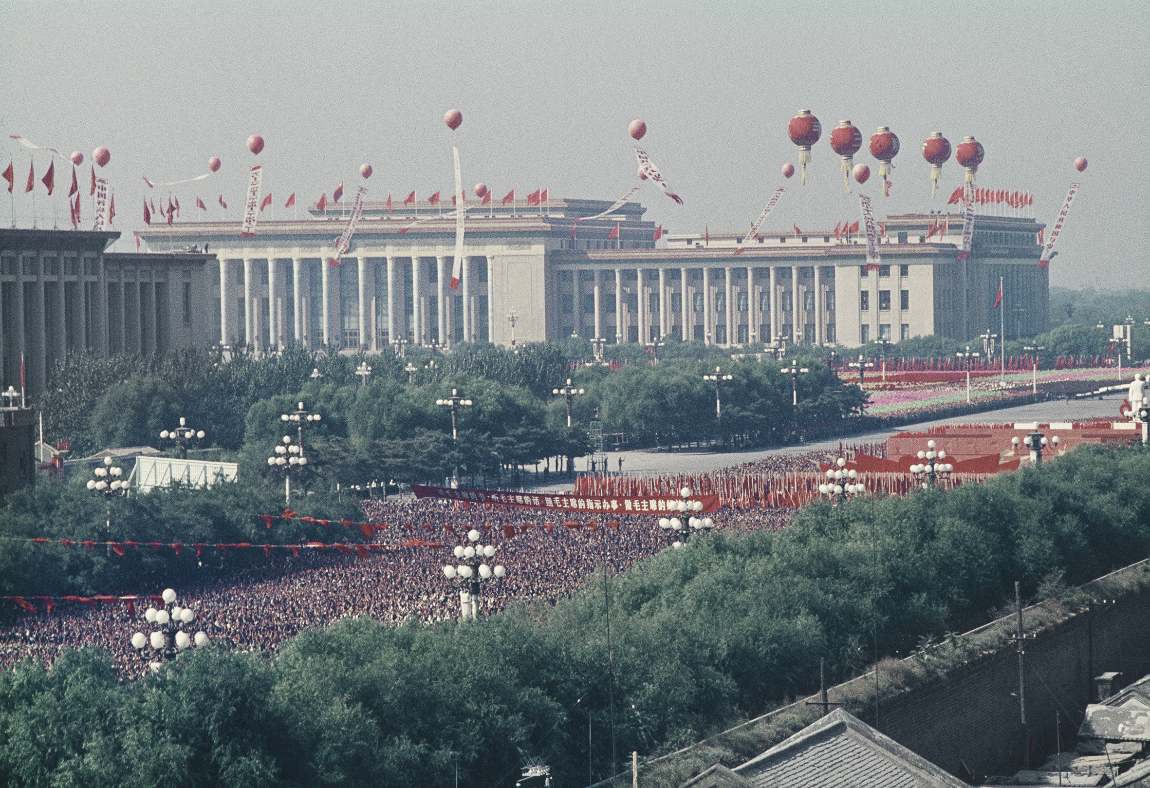 SOLANGE BRAND,  Untitled (National Day, March of the Red Guards), Beijing, China,  October, 1966