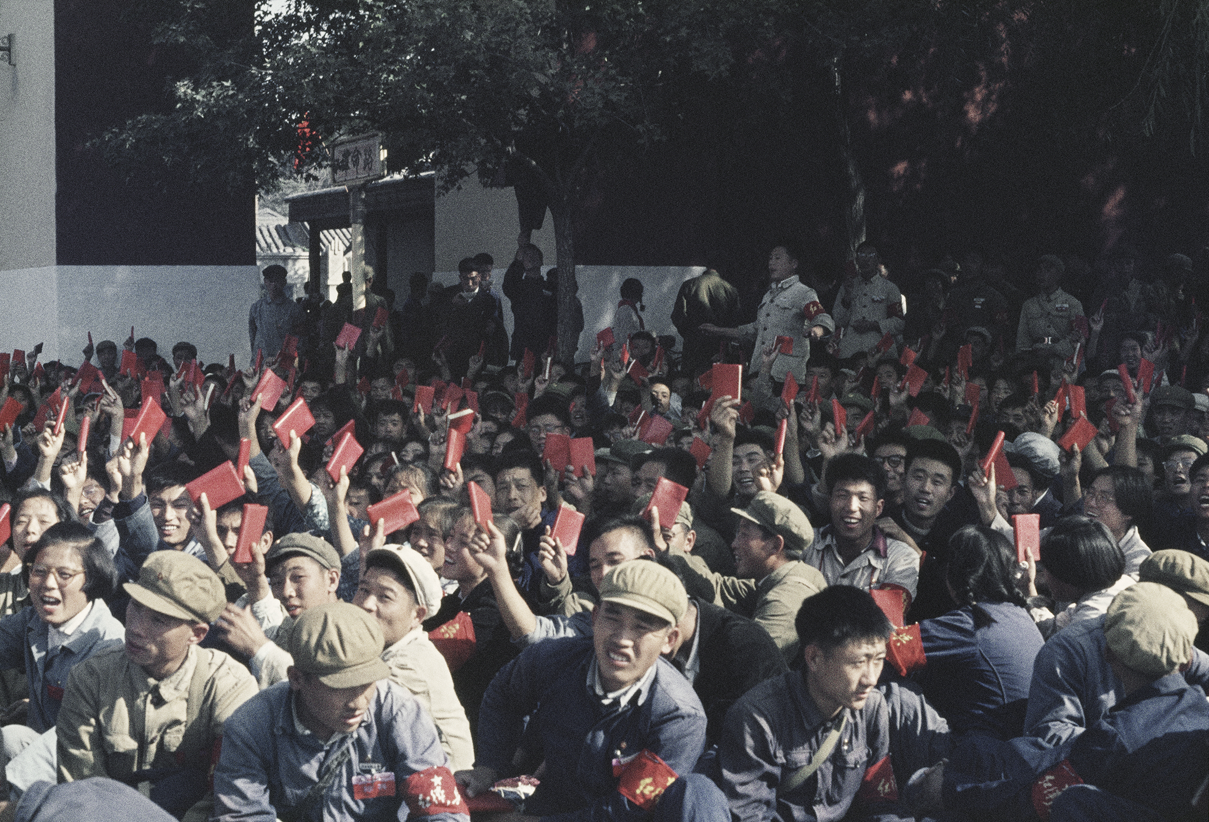 SOLANGE BRAND,  Untitled (National Day. In a Street Adjacent to Tiananmen Square, the Crowds Wait Their Turn to March), Beijing, China,  October 1, 1966