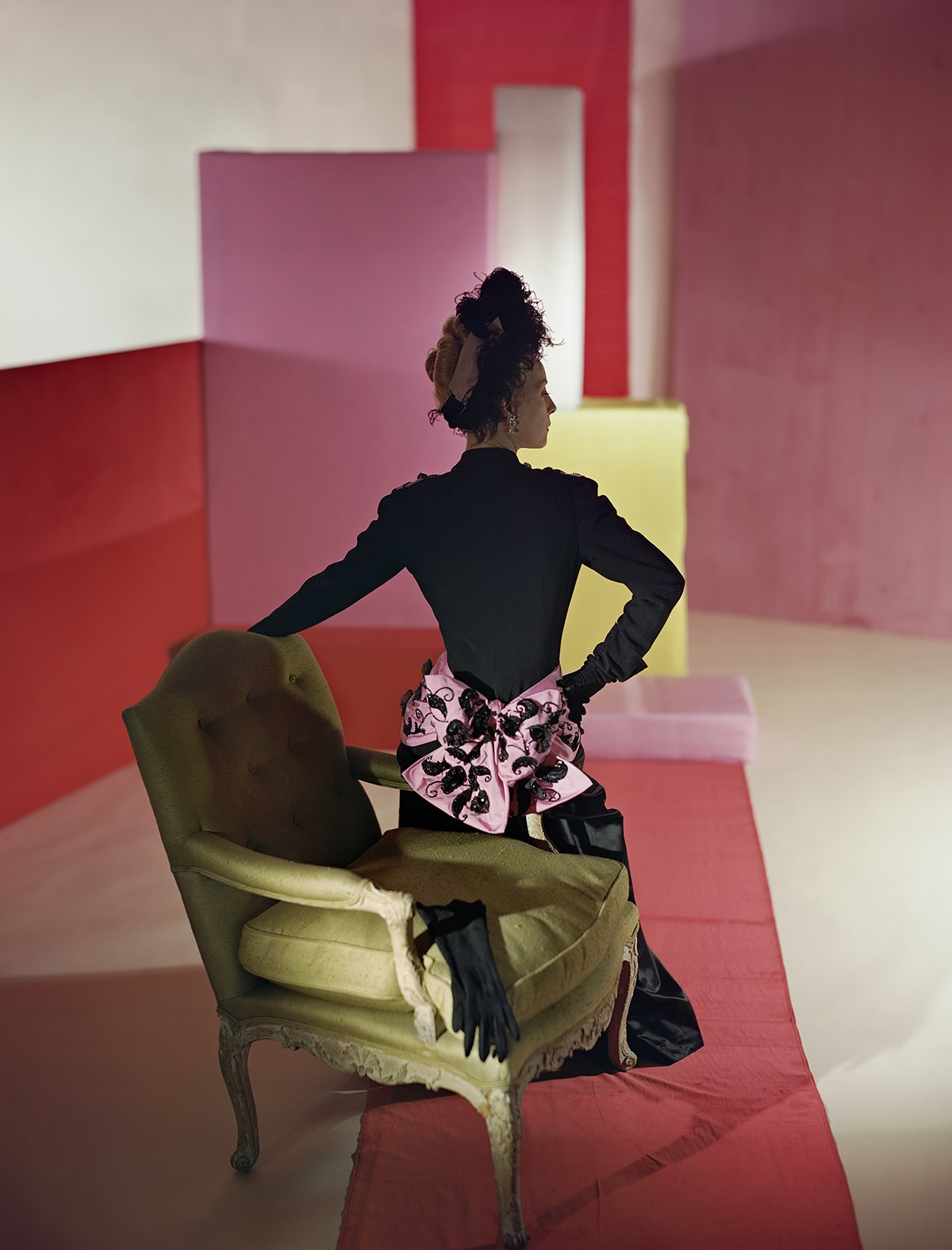 HORST P. HORST,  Suit and Headdress by Schiaparelli , 1947