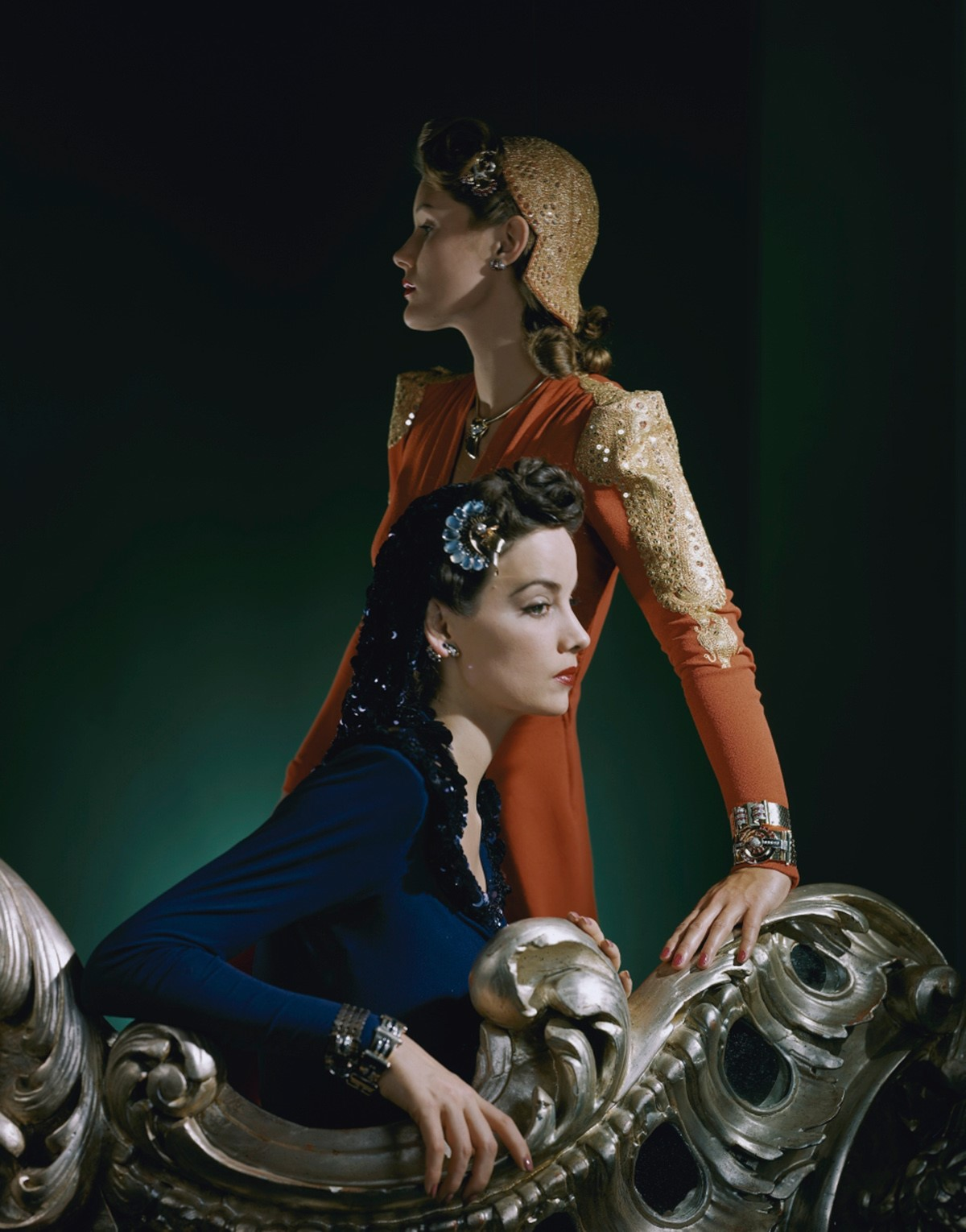 HORST P. HORST,  Ensembles by Nettie Rosenstein, Jewelry by Tiffany and Co.,  1940