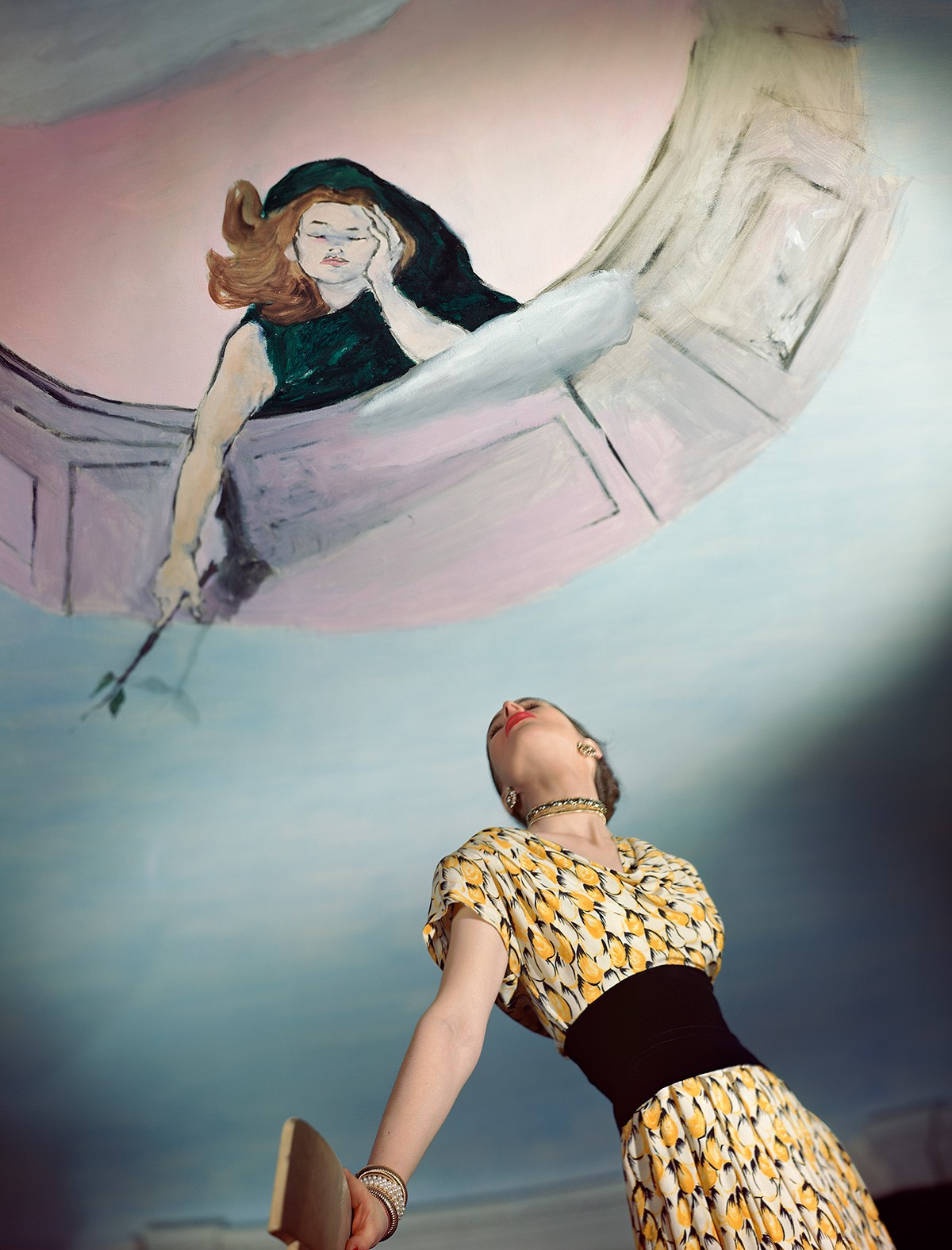 HORST P. HORST,  Dress by Jo Copeland, Murals by Marcel Vertes,  1946