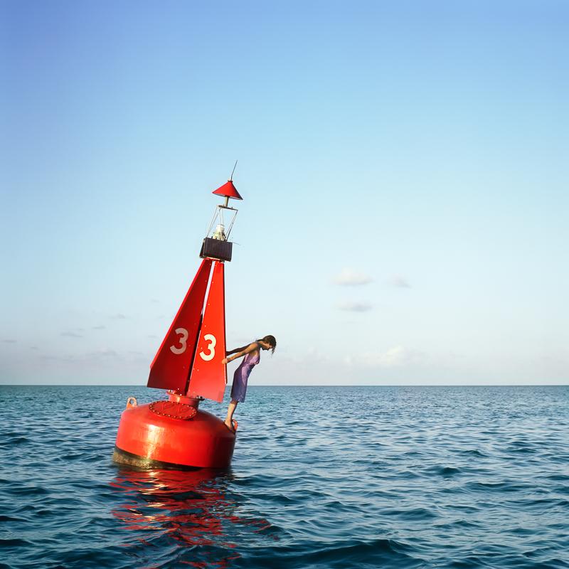CIG HARVEY,  The Channel Marker, Self Portrait, Eastern Shipping Lanes, Bermuda,  2004
