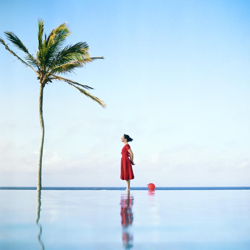 CIG HARVEY,  The Palm Tree, Self Portrait, Tuckers Point Beach Club, Bermuda,  2004