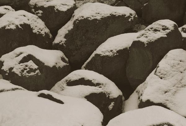 KOICHIRO KURITA,  Snow Covered Rocks, Nagano, Japan,  1989
