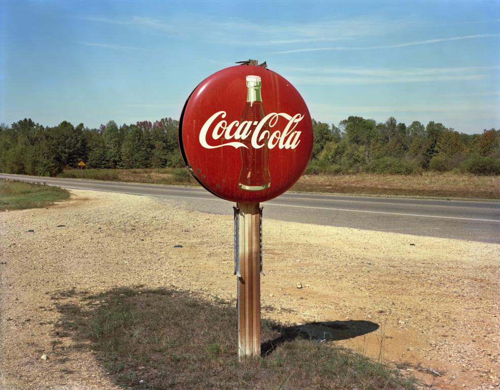 JIM DOW, Coca-Cola Sign on Highway, US 78, Burnsville, Mississippi , 1978