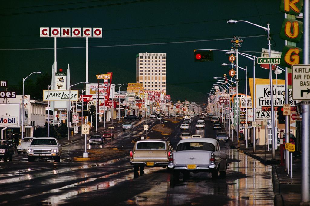ERNST HAAS, Route 66, Albuquerque, New Mexico, 1969