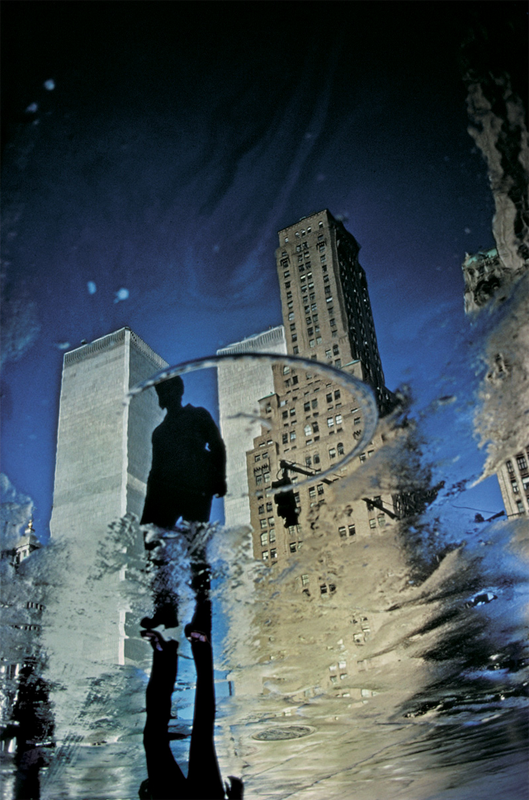 ERNST HAAS,  Twin Towers Reflection, New York City, New York, 1975