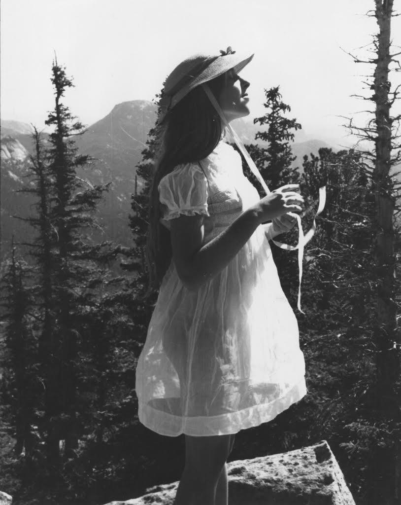 FRANCESCA WOODMAN,  Untitled (Francesca in High School with Bonnet), Boulder, Colorado,  c. 1972