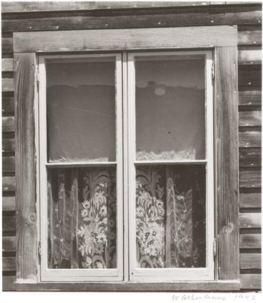 WALKER EVANS,  Window, Mystic, Connecticut,  1942