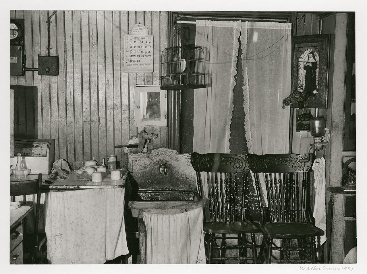 WALKER EVANS,  Tenement Kitchen, New York City,  1931
