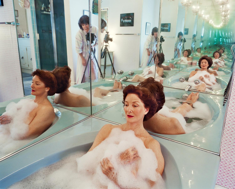SAGE SOHIER,  Mum in her bathtub, Washington, D.C.,  2002