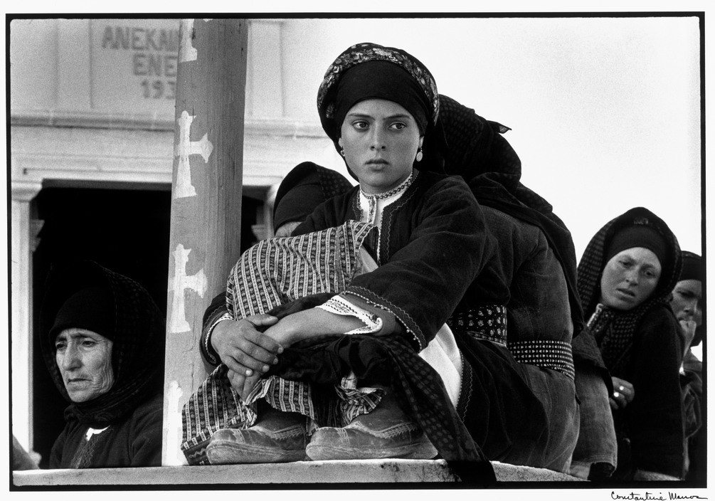 CONSTANTINE MANOS, Watching the Dance, Olympos, Karpathos, Greece, 1962 - 1963