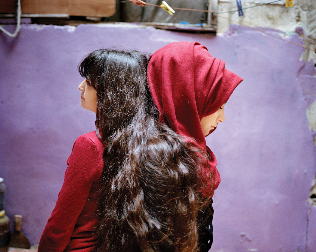 RANIA MATAR,  Sara and Samira, Bourj El Barajneh Refugee Camp, Beirut, Lebanon , 2018