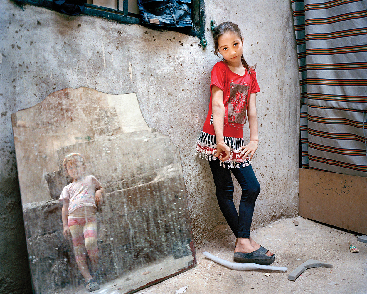 RANIA MATAR, Amal 9, Zahra 5 (girl in the mirror), Beirut, 2014