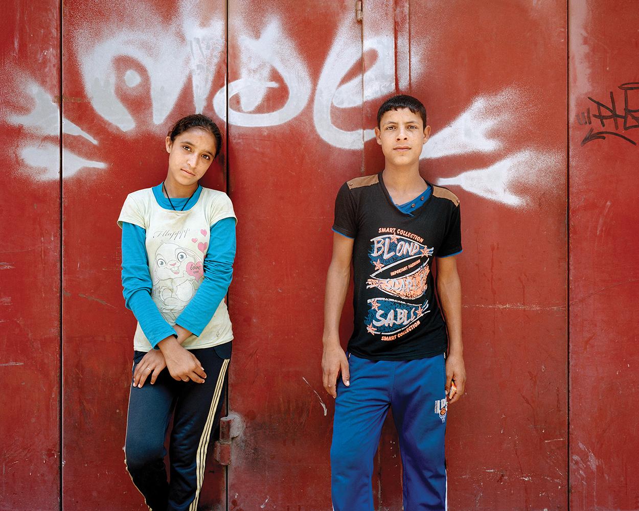 RANIA MATAR, Maya 12, Wael 14, Beirut, 2014