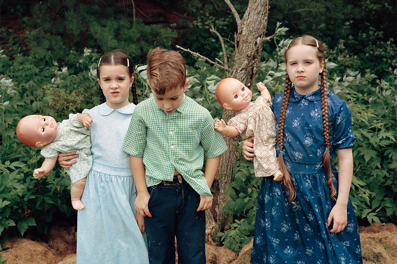 SHERON RUPP,  Mennonite Children, Walcott, Vermont , 1990
