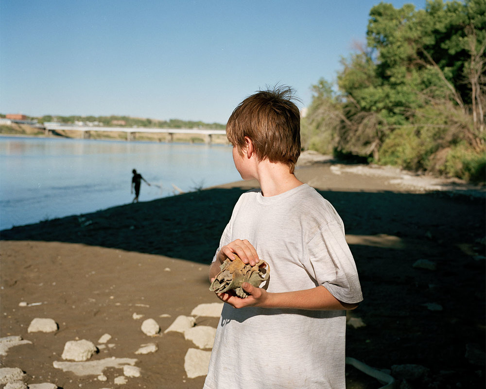 SHERON RUPP,  Ernie at Missouri River, Great Falls, Montana , 1996-1999