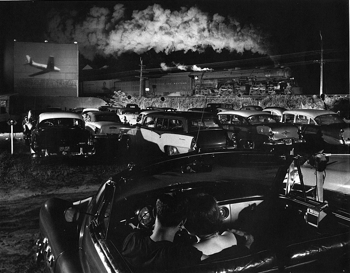 O. WINSTON LINK,  Hot Shot Eastbound at Iager, WV,  1956