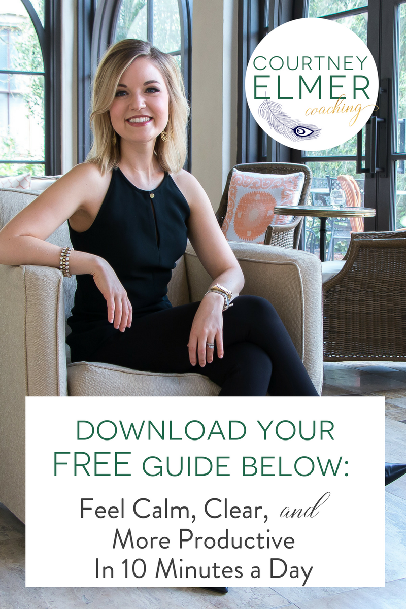 Courtney Elmer Free Guide Calm Clear Productivity