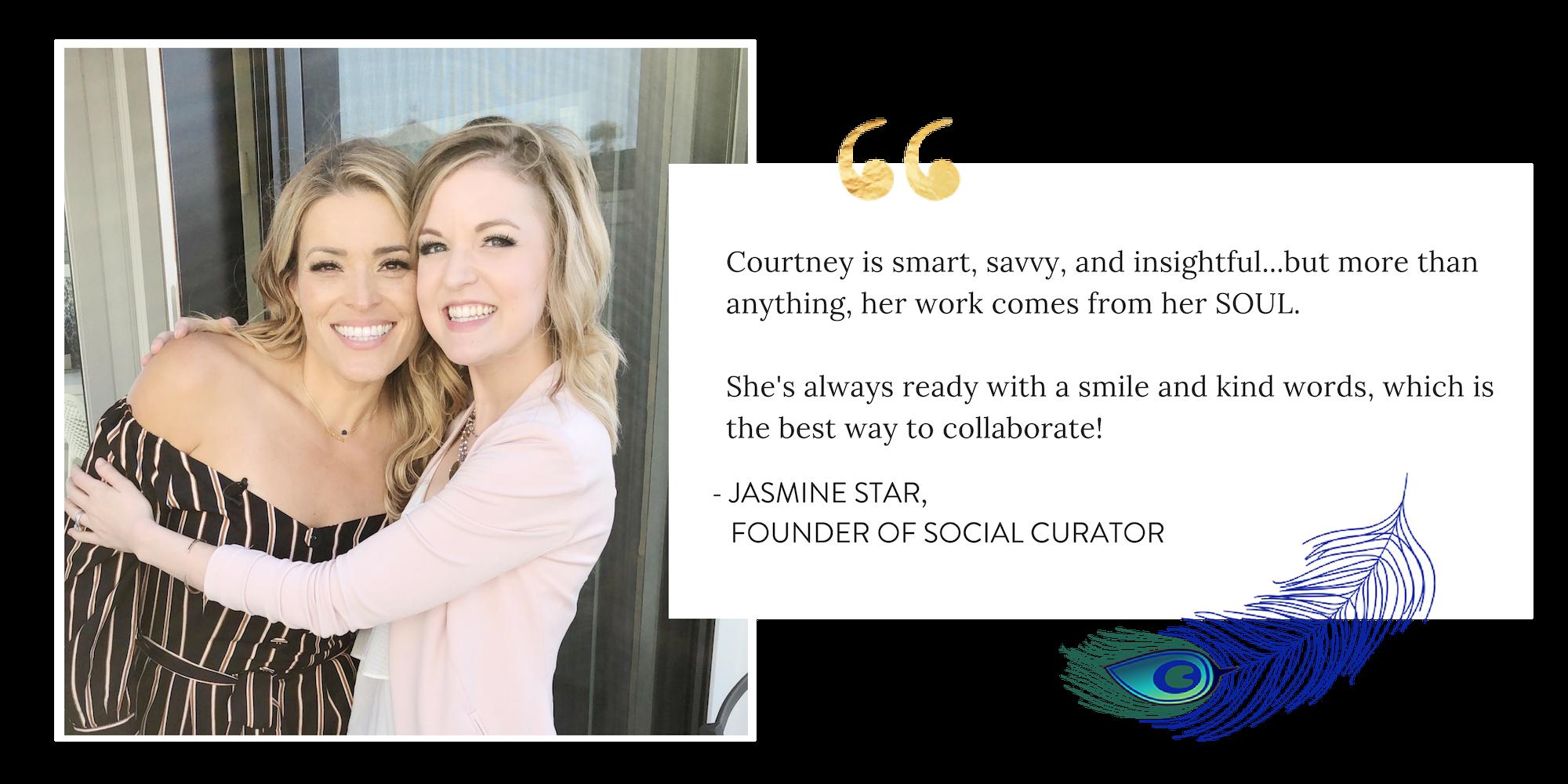 Jasmine Star Social Curator Courtney Elmer Business Coach Speaker Courtney Elmer Coaching
