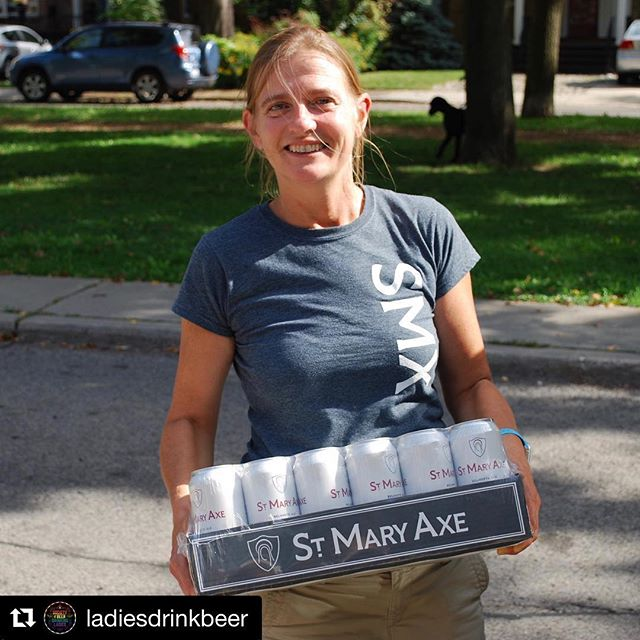 @ladiesdrinkbeer and #WomeninBeerWednesday caught up with Christine Haselmayer from St. Mary Axe Beer! (IG: @smxbeer) ————————————————————— What was your first beer? 🍼  My dad's OV (Old Vienna) ————————————————————— What is your favourite style of beer? 💖 Up until fairly recently I would have said stout, but I'm really enjoying sour beers lately. ————————————————————— What was your first craft beer? 👆🏻 @samueladamsbeer (way back when) ————————————————————— What is your favourite non-Ontario brewery? ✈️ @franziskaner.weissbier - they make the best German Hefeweizen and I've spent many great nights (and days) in Munich enjoying it with my relatives who love beer. ————————————————————— What is your favourite part about your job? ✨ I really enjoy doing the deliveries, believe it or not. I meet so many different people and have interesting chats with them about beer and lots of other stuff. Plus it's making me strong! ————————————————————— Cheers Christine! 🍻 . . . . #wibw #wcw #womeninbeer  #ladiesdrinkbeer #beer #craftbeer #drinkcraft #drinkcraftnotcrap #ladybeersquad #ladybeercommunity #beerdrinkinglady #beergals #beerbroads #bevy #societyofbeerdrinkingladies #instabeer #beerstagram #beertography #beergram #beerme #fortheloveofcraftbeer #craftbeerculture #craftbeerlife #craftbeernation #beerdiaries #fortheloveofbeer
