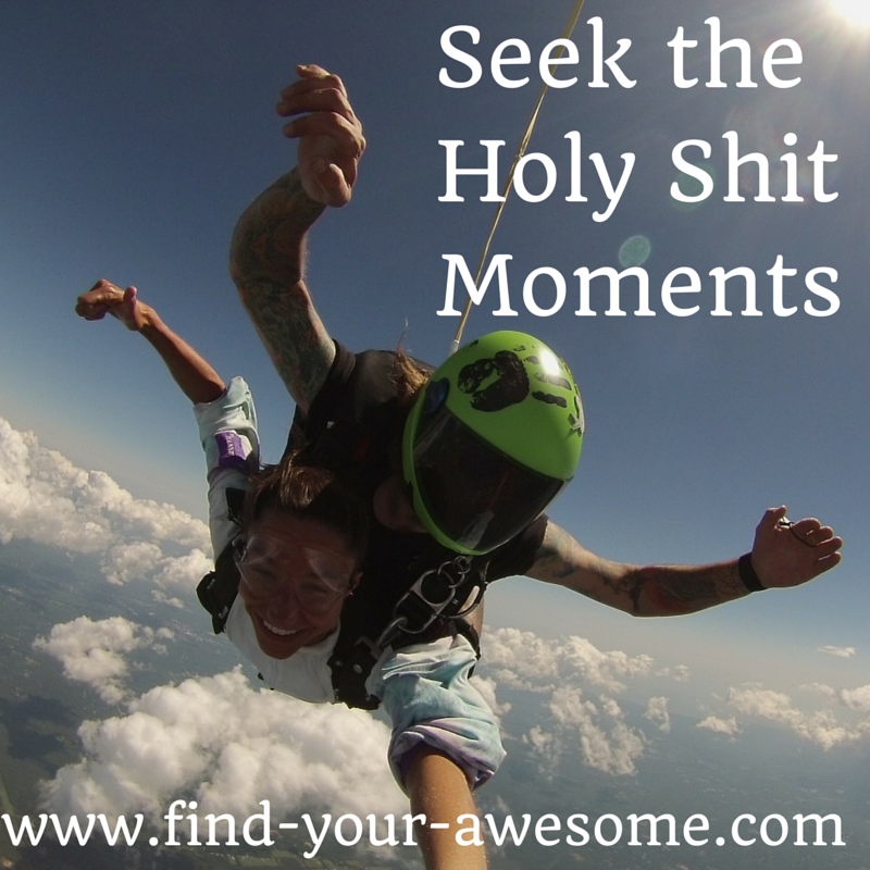 Seek the Holy Shit Moments