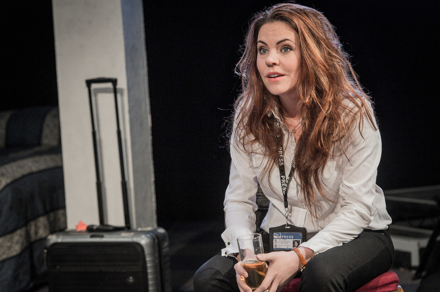 Rachel Tucker in Farragut North, Southwark Playhouse Off West End, composer - Jude Obermüller (photo by Robert Workman)