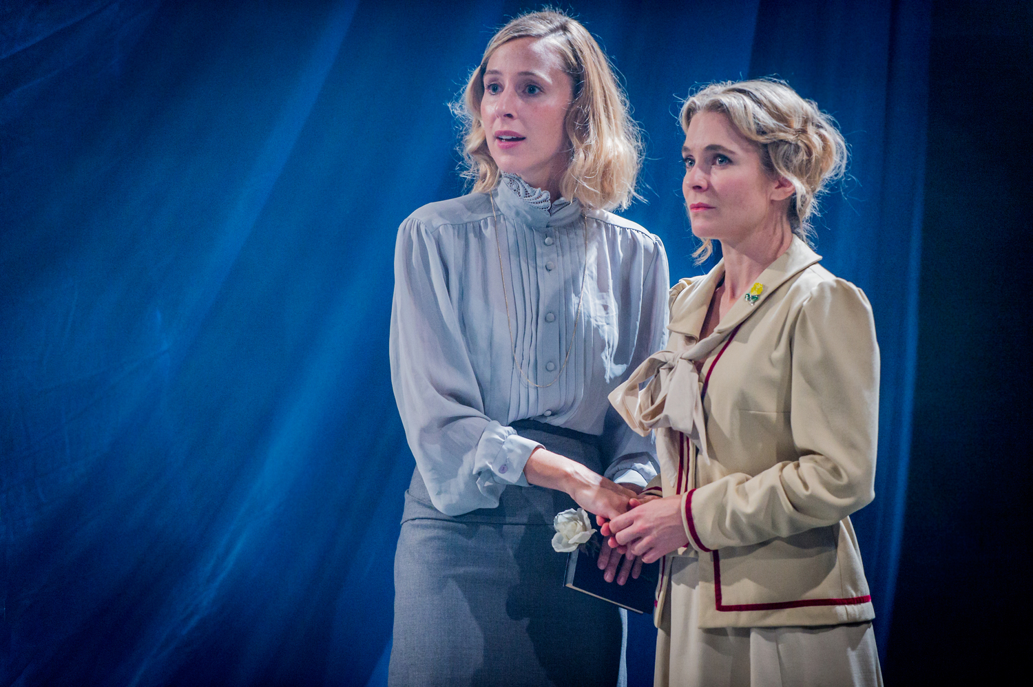 Sally Scott & Kaisa Hammarlund in As You Like It, composed by Jude Obermüller (photo by Robert Workman)