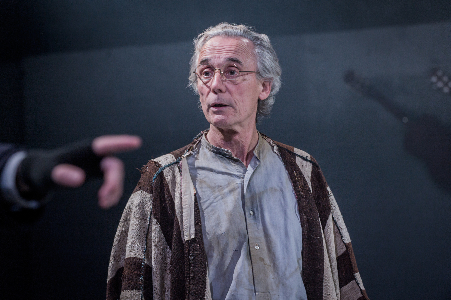 Steven Crossley in As You Like It, composed by Jude Obermüller (photo by Robert Workman)