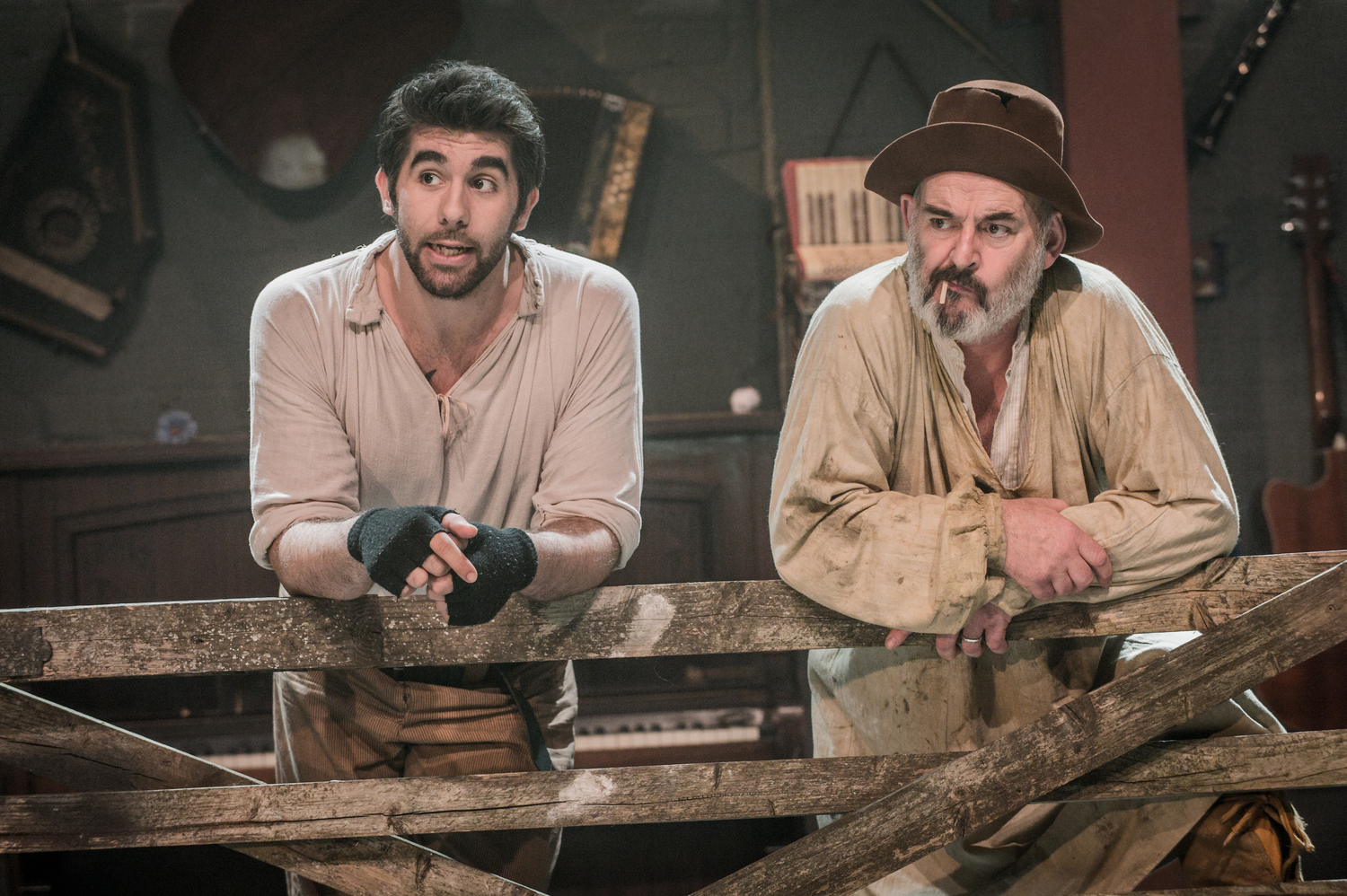 Simon Lipkin & Richard Albrecht in As You Like It, composed by Jude Obermüller (photo by Robert Workman)