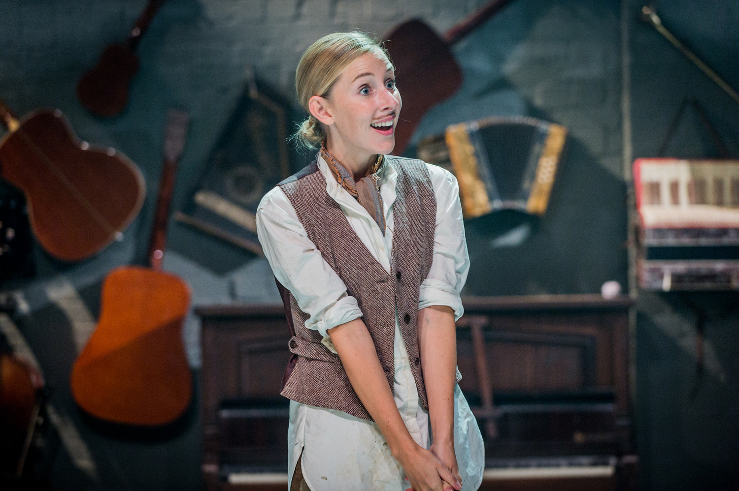 Sally Scott in As You Like It, composed by Jude Obermüller (photo by Robert Workman)