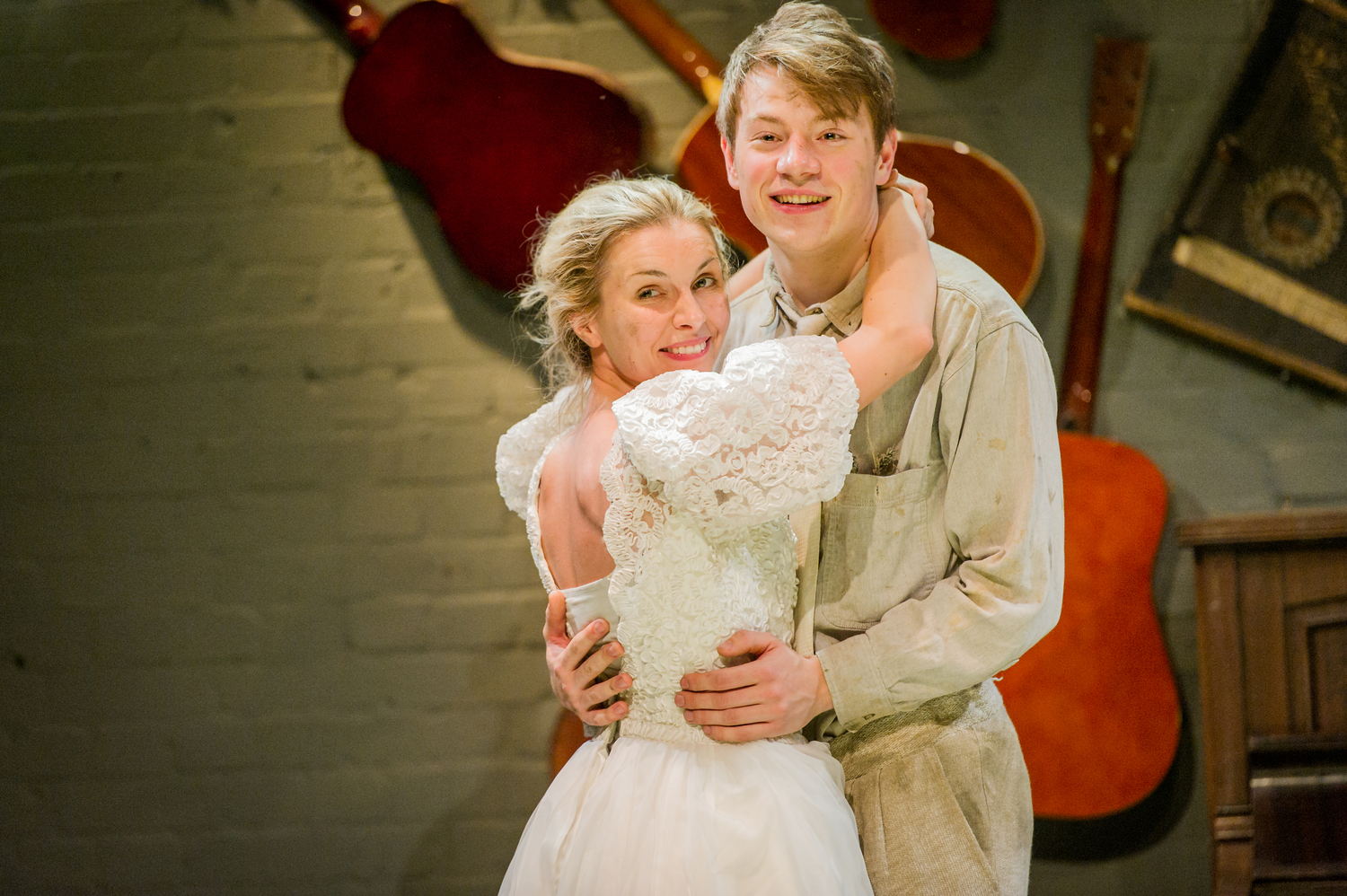 Joanna Hickman & Sam Townsend in As You Like It, composed by Jude Obermüller (photo by Robert Workman)