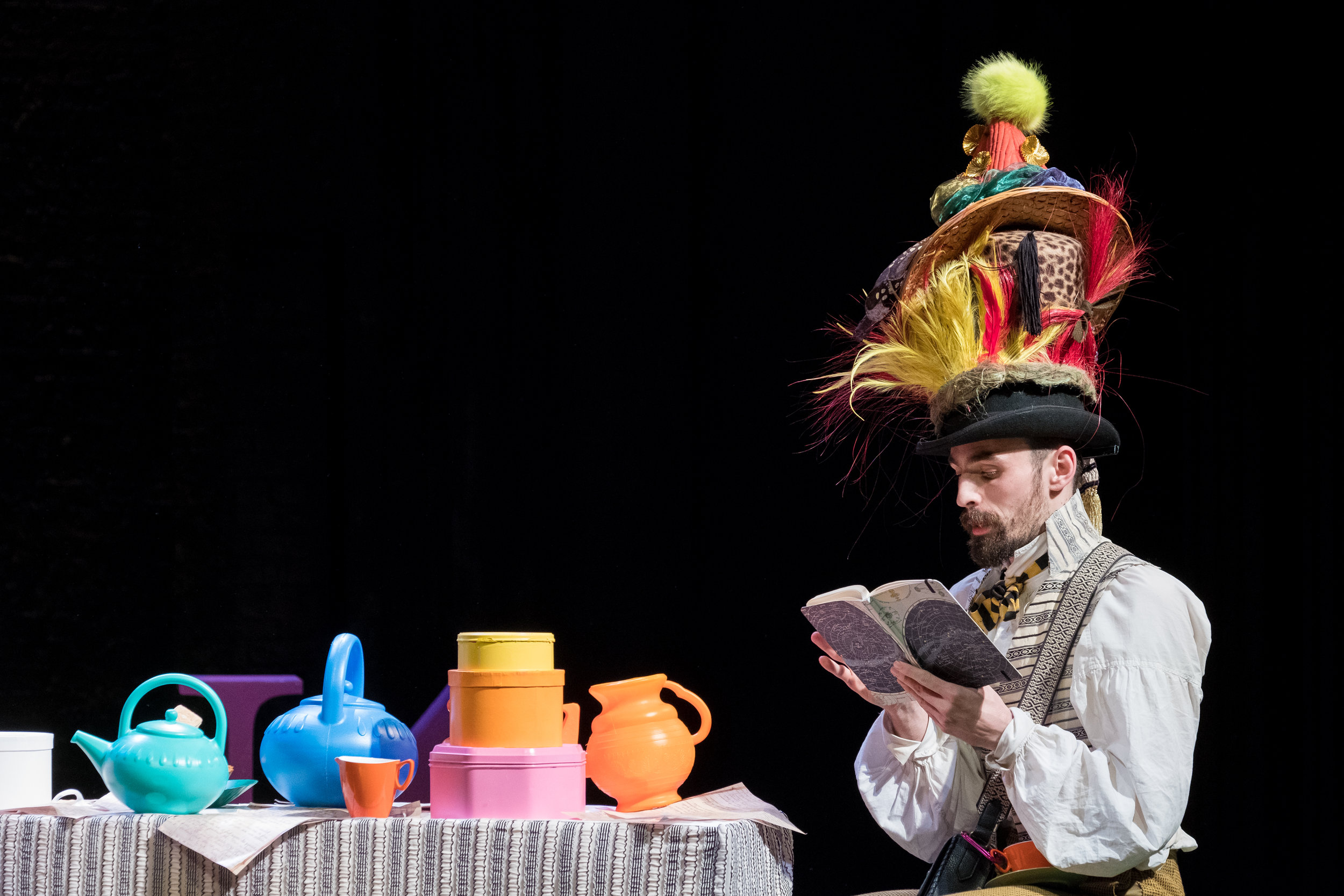 Alex Mugnaioni in Alice in Wonderland, Storyhouse, composed by Jude Obermüller (photo by Mark McNulty)