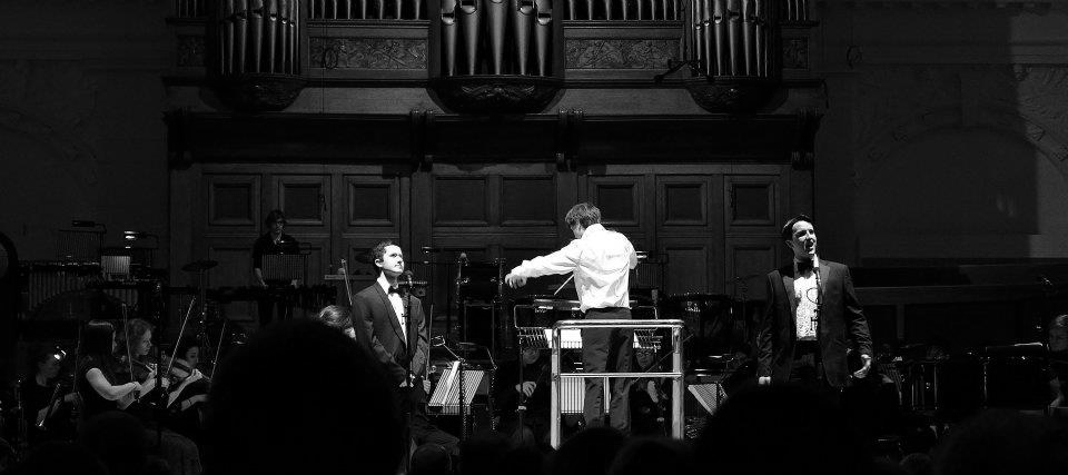 conducting the RCM Musical Theatre Orchestra, Amaryllis Fleming Concert Hall, London