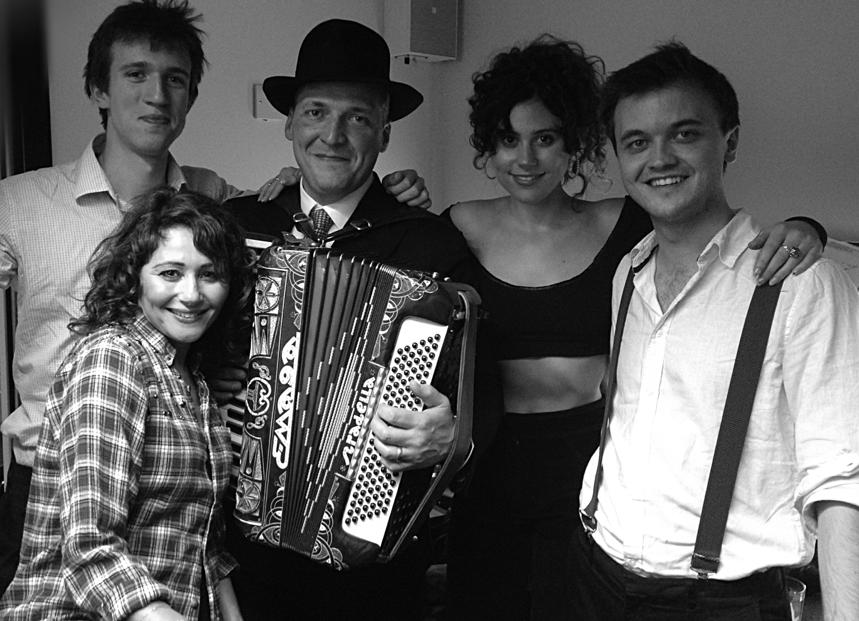 Pre-final show at The St James Theatre (or Other Palace): Misha Mullov-Abbado (bass), Frances Ruffelle, Romano Viazzani (accordion), Eliza Caird and Jude Obermüller