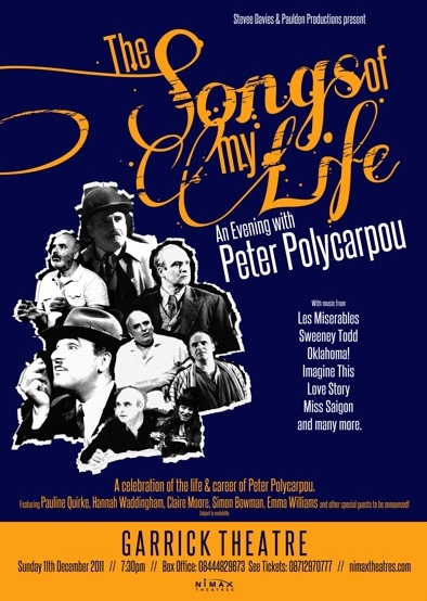 Songs of My Life - Peter Polycarpou, featuring orchestrations and arrangements by Jude Obermüller.jpg