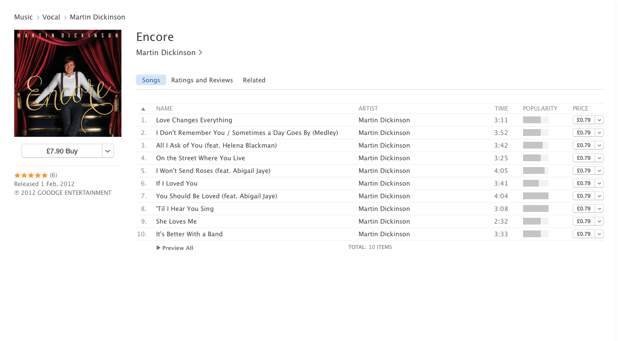 Peruse excerpts from the whole of  Encore in iTunes - click on the picture-link above!