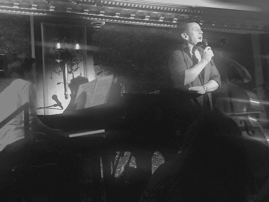 with Paul Baker, on stage at 54 Below