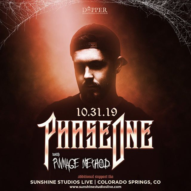 👽SHOW ANNOUNCEMENT👽  Colorado Springs im so happy to be coming back on Halloween with the man himself @phaseoneau  This show is 2 weeks after my debut album comes out so I'm very excited to play out all the new music live! See you all then!  @dapper_promotions  #dubstep #bass #edm #coloradosprings #sunshinestudios #pwnage #music #dance #phaseone #dapper #trap #futurebass #dnb #metal #halloween