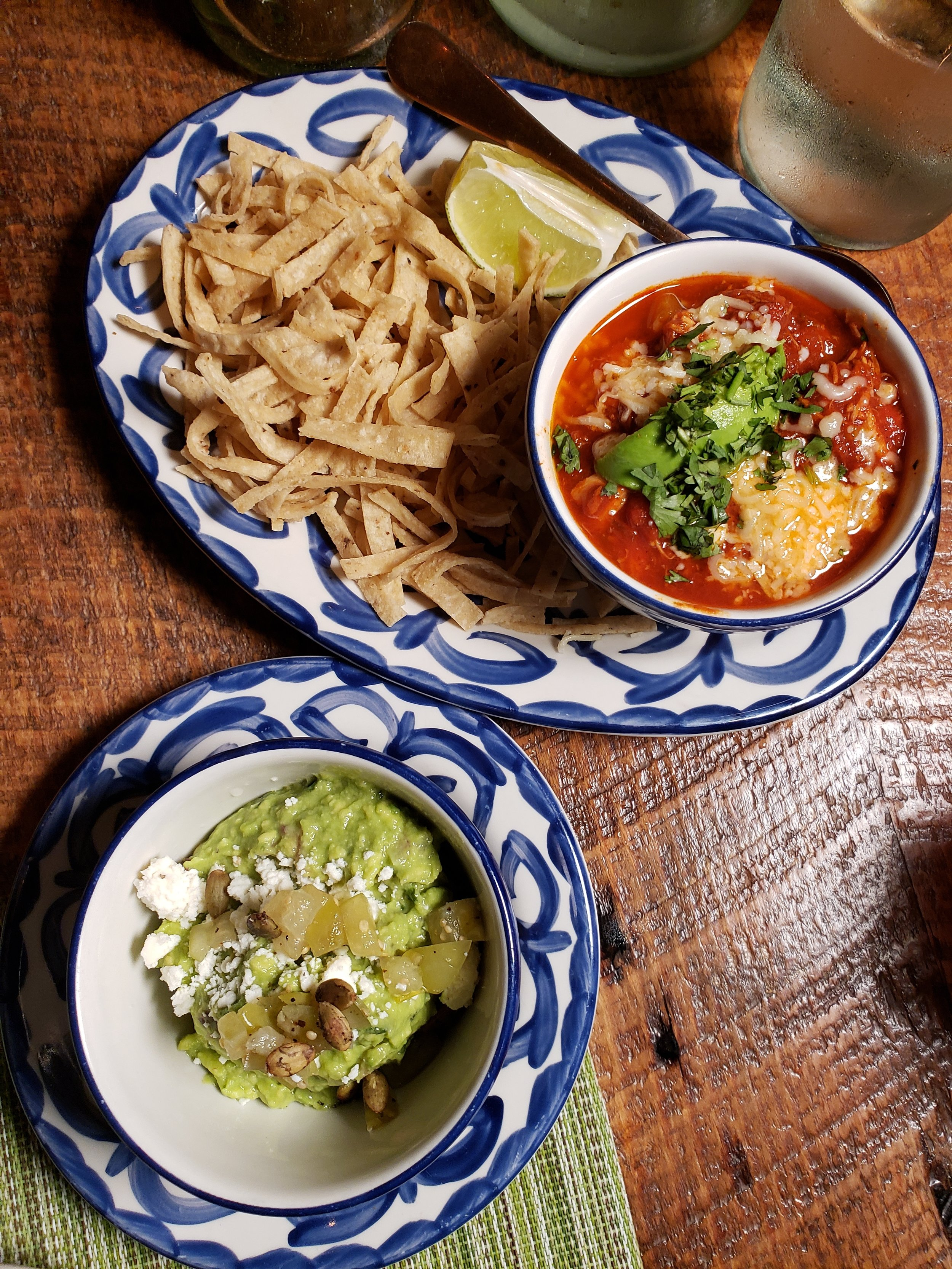 Tortilla Soup and Guacamole