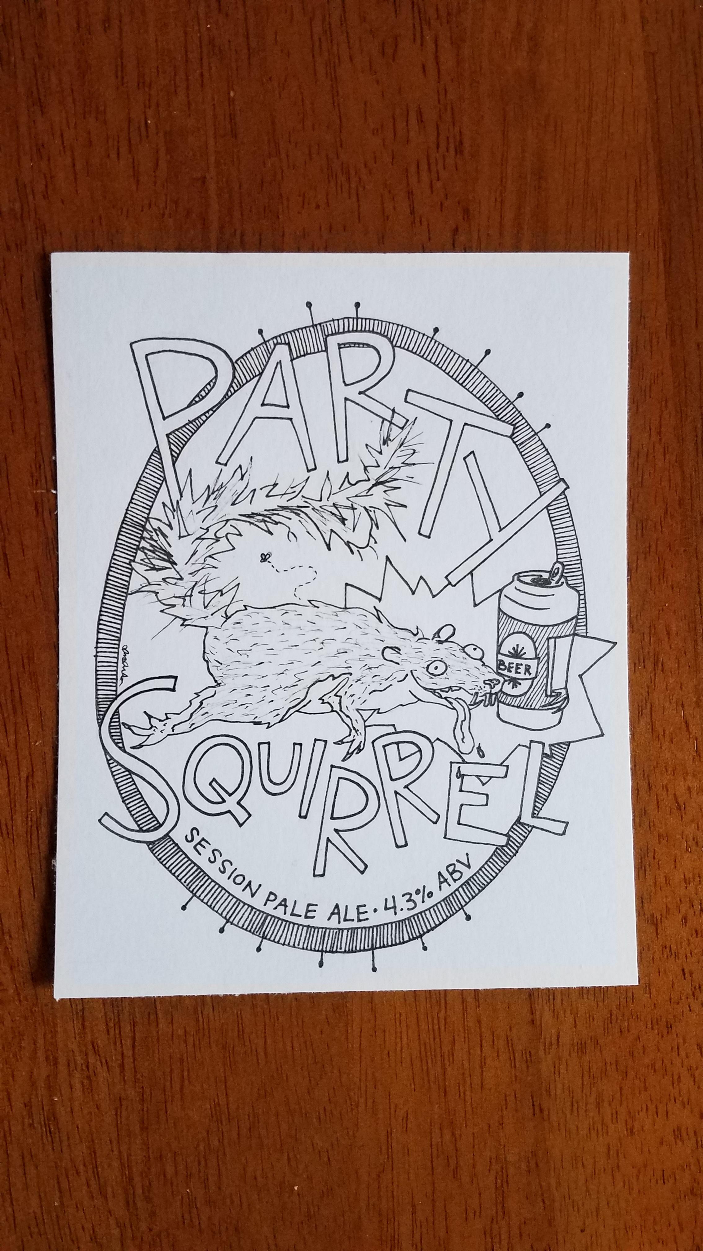 Party Squirrel  Hypothetical craft beer #2, 2019.